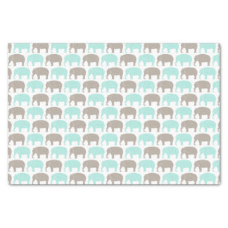 mint-grey baby elephants tissue paper