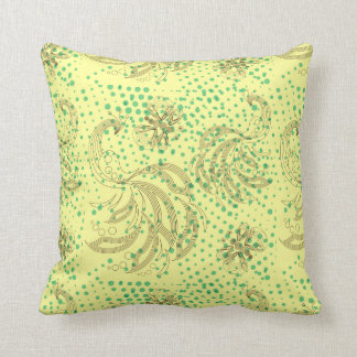 Mint halftones with butterfly pattern cushion