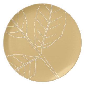 Mint herb design plate