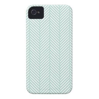 Mint Herringbone Case-Mate iPhone 4 Cases
