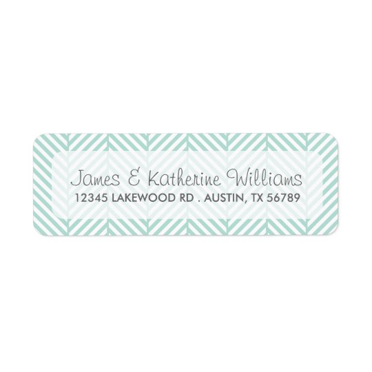 Mint Herringbone Chevron Modern Wedding