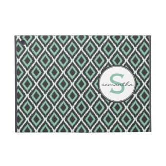 Mint Ikat Monogram Cover For iPad Mini