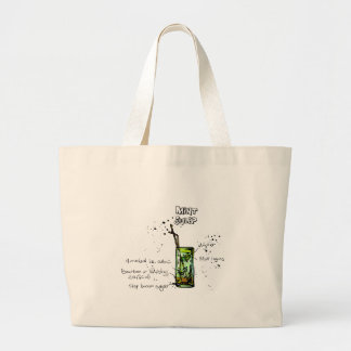 Mint Julep Cocktail Recipe Large Tote Bag