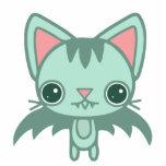 mint kitty bat standing photo sculpture