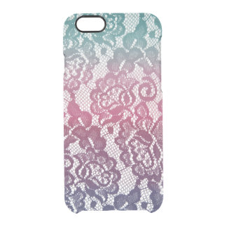 Mint Lace Gradient Clear iPhone 6/6S Case