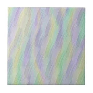 Mint Lavender Yellow Tile