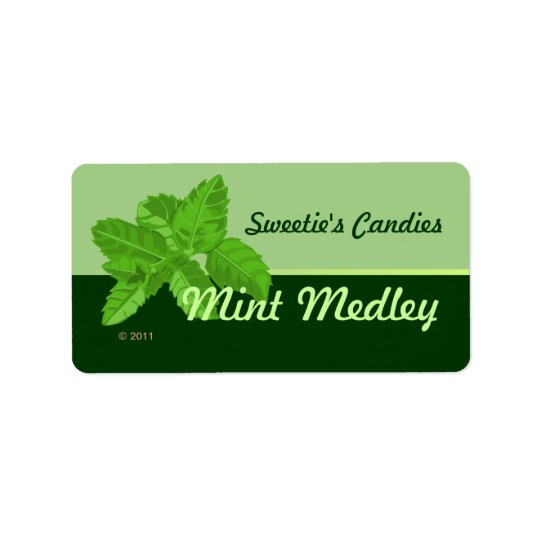Mint Leaf Labels