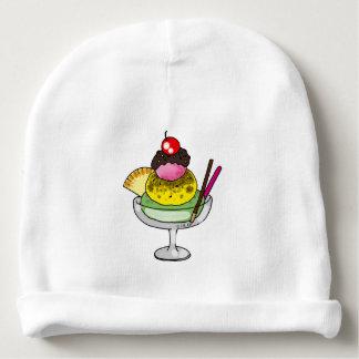 mint lemon and strawberry ice cream baby beanie