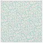 Mint Leopard Animal Print Fabric