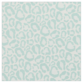 Mint Leopard Animal Print Fabric