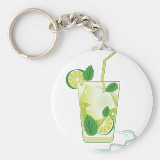Mint & Lime Drink Key Ring