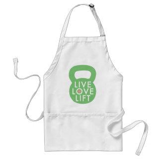 "Mint ""Live Love Lift"" Standard Apron"