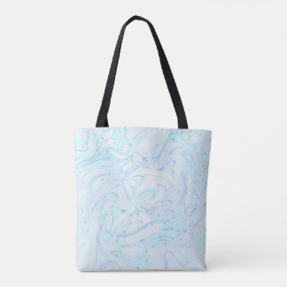 Mint marble texture for trendy girl tote bag