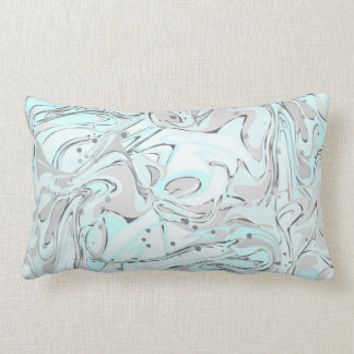 Mint marble texture for trendy house interior lumbar cushion