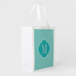 Mint Mint Green Solid Color Reusable Grocery Bag