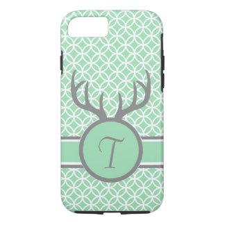 Mint Monogram Antlers iPhone 8/7 Case