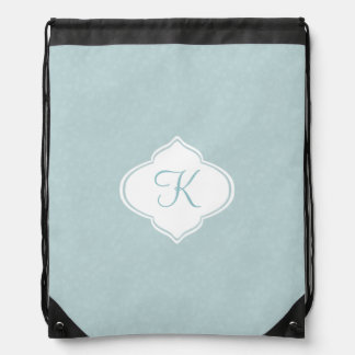Mint Monogram Drawstring Bag