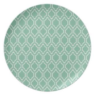 Mint Moroccan Pattern Plate