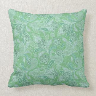 Mint Paisley Cushion