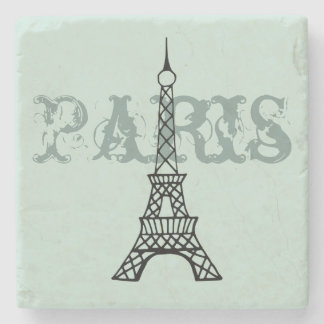 Mint Paris Eiffel Tower Stone Drink Coaster Gift