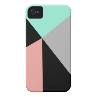 Mint & Peach Geometric iPhone 4/4S Case