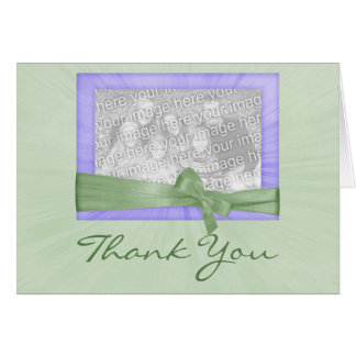 Mint Photo Frame Thank You Card