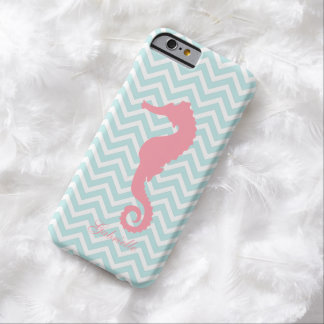 Mint & Pink Seahorse Barely There iPhone 6 Case