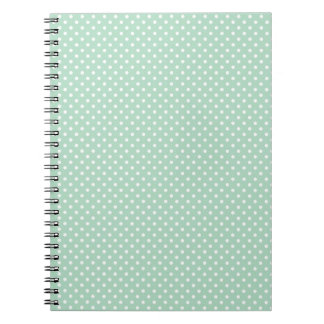 Mint Polka Dot Notebook