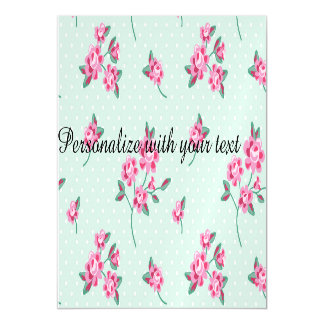 mint,polka dot,roses,shabby chic,pattern,girly,tre magnetic invitations