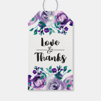 Mint & Purple Floral Wedding Love & Thanks