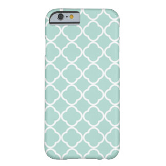 Mint Quatrefoil Barely There iPhone 6 Case