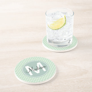 Mint Quatrefoil Coaster