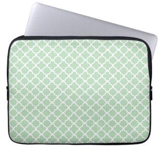 Mint Quatrefoil Laptop Sleeve