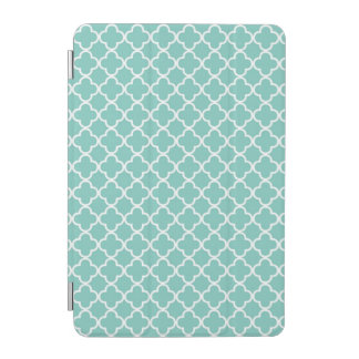 Mint Quatrefoil Pattern iPad Mini Cover