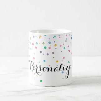 Mint Rainbow Confetti Dots Coffee Mug