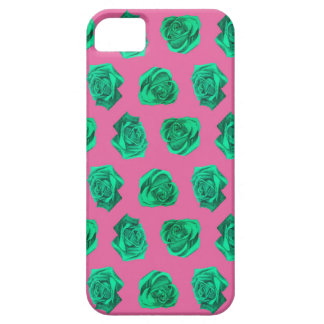 Mint Rose Pattern iPhone 5 Case
