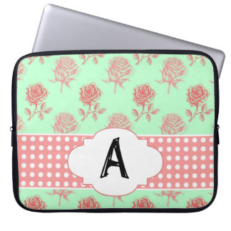 Mint Roses Laptop Sleeve