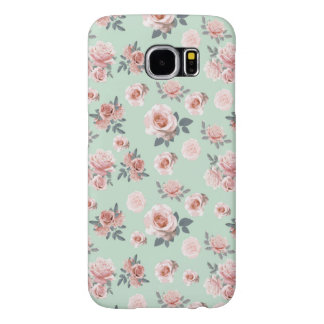 Mint Roses Samsung Galaxy S6 Cases