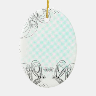 Mint rustic vintage background with halftones christmas ornament