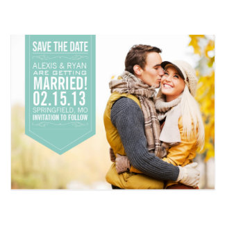Mint Save The Date Postcard