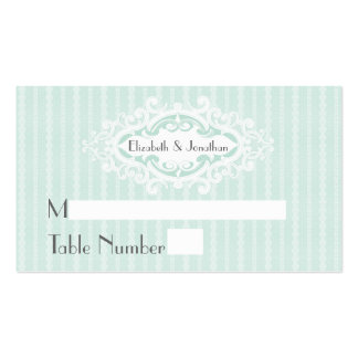 Mint Scrolls and Ribbons Wedding Place Cards Pack Of Standard Business Cards