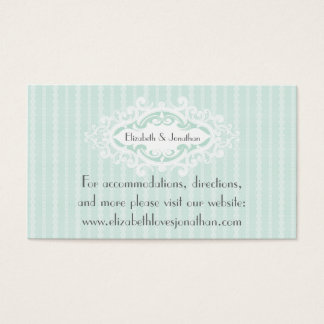 Mint Scrolls and Ribbons Wedding Website