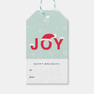 Mint Snow Joy Holiday Gift Tags