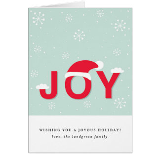 Mint Snow Joy Holiday Greeting Card