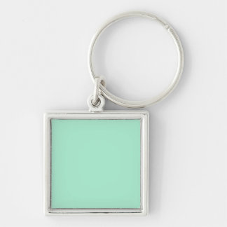 Mint Solid Color Silver-Colored Square Key Ring