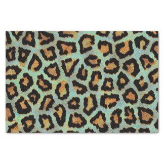 Mint Tease me teal  Leopard print tissue paper