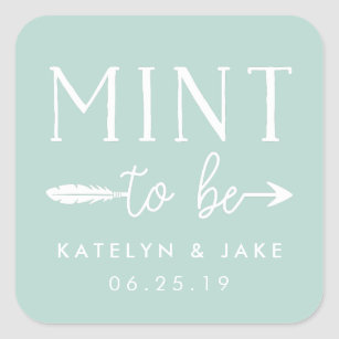 Mint to Be | Personalised Wedding Favour Mints Square Sticker