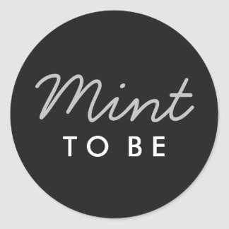 Mint to Be Welcome Bag or Favour Sticker