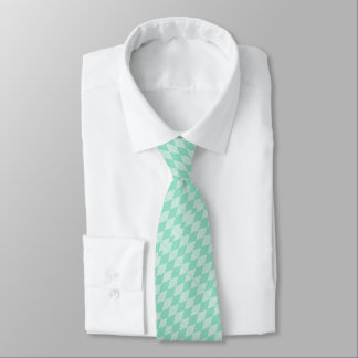 Mint Triangle - Diamond pattern with white stripes Tie