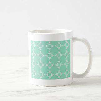 Mint Triangle - Star pattern with white stripes Coffee Mug